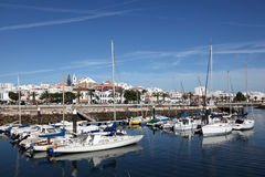 Harbor of Lagos, Algarve Portugal Stock Image