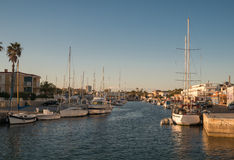 Yachts and Boats in La Manga port. Royalty Free Stock Photo