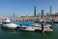 Yachts and boats at the Marina in Kuwait Royalty Free Stock Photography