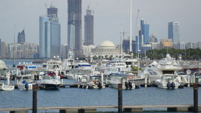 Yachts and boats on the mooring. Arab Emirates Stock Image