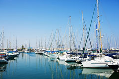 Yachts and boats in old port Stock Photography