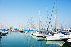 Yachts and boats in old port Royalty Free Stock Images