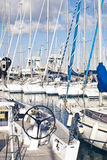 Yachts and boats in old port in Palermo Royalty Free Stock Photography