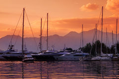 Yachts and Boats at Port Stock Images