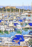 Yachts and boats in the port of Antibes Royalty Free Stock Images