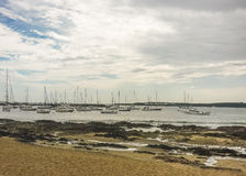 Yachts and Boats in the Port of Punta del Este Royalty Free Stock Images