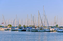 Yachts and boats Royalty Free Stock Photography