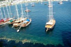 Yachts Bodrum image libre de droits