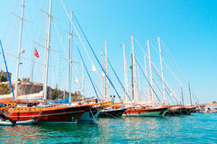 Yachts on Bodrum' harbor (Turkey). Stock Image