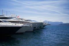 Yachts bows Stock Image