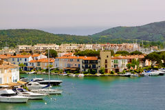 Yachts and buildings in Port Grimaud, France Stock Photo