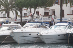 Yachts in Cala dOr Marina Stock Photo