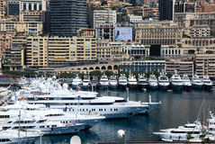 Yachts at Cannes port, French riviera Royalty Free Stock Photo