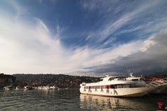 Yachts chez Santa Margherite, Italie. Photos libres de droits
