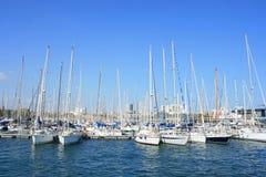Yachts chez Vell gauche Photographie stock libre de droits