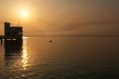 Yachts club in a sunrise moment Stock Photography