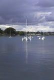 Yachts in  coastal park Royalty Free Stock Photography