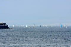 Yachts concurrençant à Rolex Sydney au rac de Hobart Photographie stock libre de droits