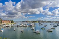 Yachts at a costal suburb in Sydney Royalty Free Stock Photography