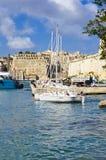 Yachts, Cottonera marina, Malta Stock Images