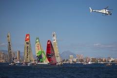 Yachts démarrant dans le Vor Photos libres de droits