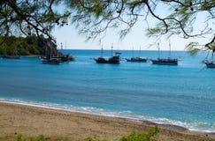 Yachts dans la baie Photo libre de droits