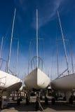 Yachts dans la cale sèche Image stock