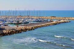 Yachts dans la marina Images libres de droits