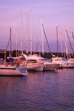 Yachts dans la marina Photographie stock