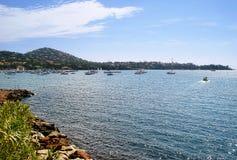 Yachts dans le golfe Agay Photographie stock