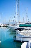 Yachts dans le port Images libres de droits