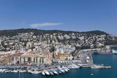 Yachts dans Nice le port Photographie stock libre de droits