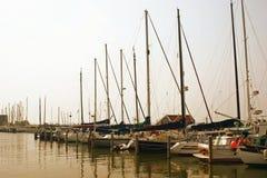Yachts dans un port Image stock
