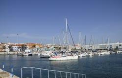 Yachts dans une marina Photographie stock