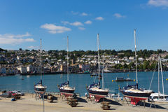 Yachts in Dartmouth Marina Devon England UK during the summer heatwave of 2013 Stock Photos