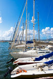 yachts de la Sardaigne de navigation Photographie stock libre de droits