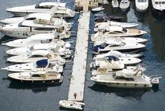 Yachts de luxe ancrés Photo libre de droits
