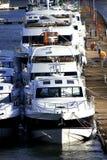 yachts de luxe de port photo libre de droits
