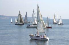 Yachts de navigation de Cor Caroli de régate Photo stock