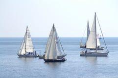 Yachts de navigation de regata de Cor Caroli Photo stock