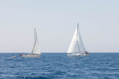 Yachts de navigation en Mer Adriatique Croatie Images stock