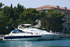 yachts de point d'attache Photos stock