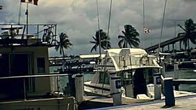 Yachts de port de Nassau banque de vidéos