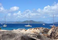 Yachts des Caraïbes Images libres de droits