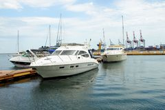 Yachts at the dock Royalty Free Stock Photography