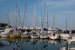Yachts in dock Royalty Free Stock Photo