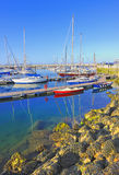 Yachts docked at Howth harbo. R in ireland Royalty Free Stock Photography