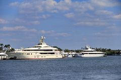 Yacht in West Palm Beach Royalty Free Stock Images