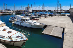 Yachts docked in a port Royalty Free Stock Photos