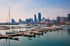 Yachts Docks, Qingdao royalty free stock images